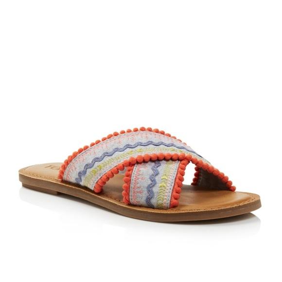 Sale Women Crisscross Slide Sandals New